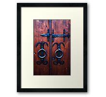 Old fashioned doors Framed Print