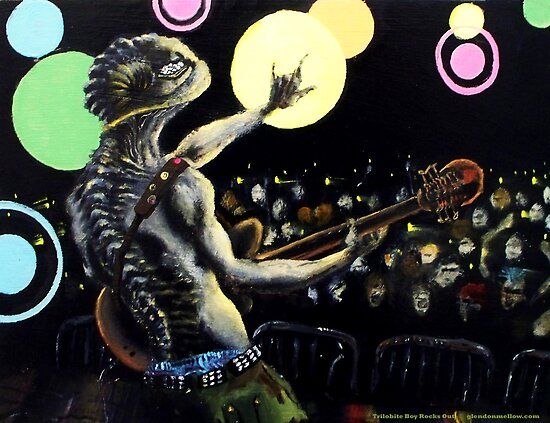 Trilobite Boy Rocks Out by Glendon Mellow