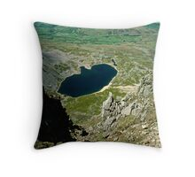 View from Cader Idris looking North, Wales, UK Throw Pillow