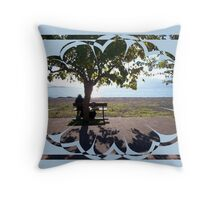 old man and sea Throw Pillow
