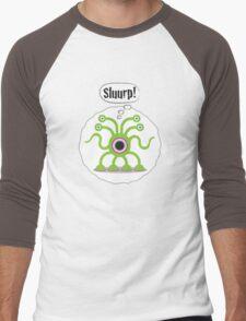 Noisy Little Terrors - 'Sluurp!' cartoon character T-shirt Men's Baseball ¾ T-Shirt