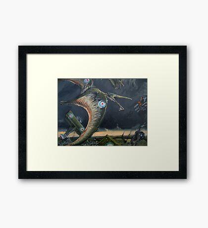 Billy Barker and Pterosaur Squadron Framed Print