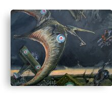 Billy Barker and Pterosaur Squadron Canvas Print