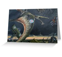 Billy Barker and Pterosaur Squadron Greeting Card