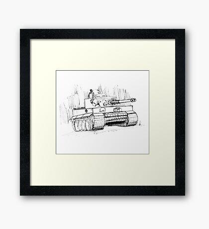 Tiger Tank Framed Print