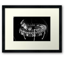 Following the Compass Framed Print