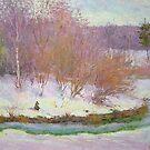 Fishing in winter by Julia Lesnichy