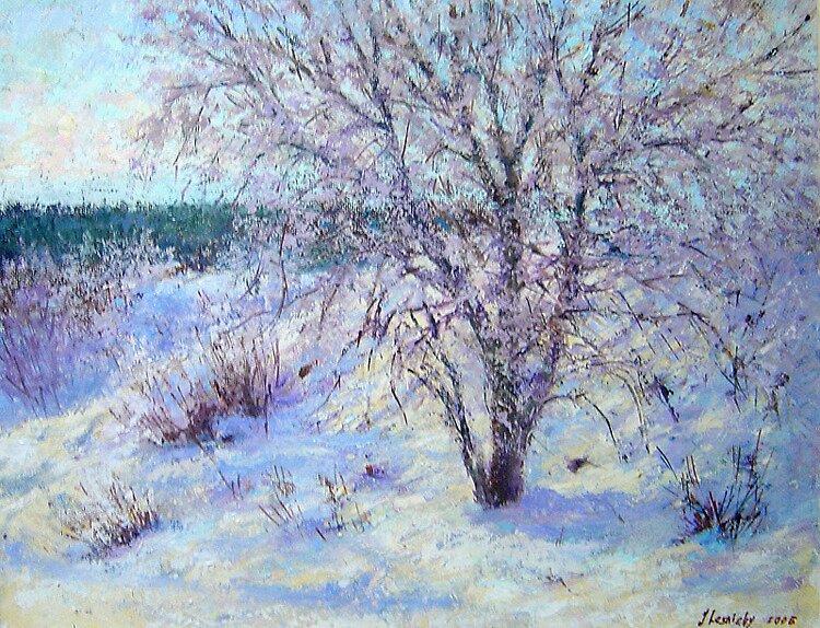 Winter tree by Julia Lesnichy