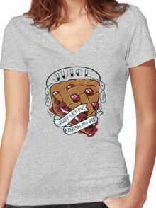 Juice Tribute Women's Fitted V-Neck T-Shirt