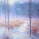 Winter morning fog by Julia Lesnichy
