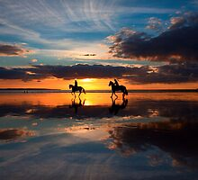 Riders at Sunset by Rob Dougall