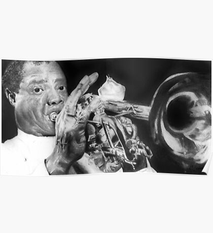 Portrait of Louie Armstrong Poster