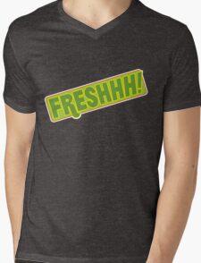 'FRESHHH!' Slogan T-shirt Mens V-Neck T-Shirt