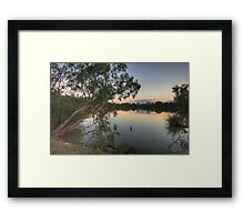 Last Light - Murray River, NSW Australia - The HDR Experience Framed Print