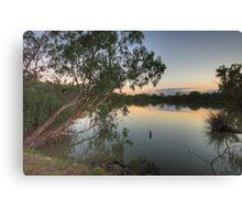 Last Light - Murray River, NSW Australia - The HDR Experience Canvas Print