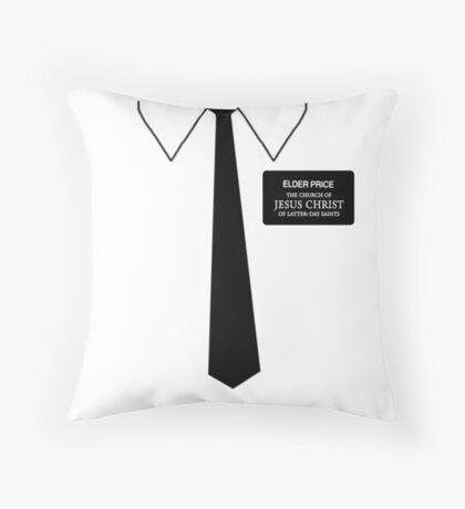 Elder Price- Book of Mormon Throw Pillow