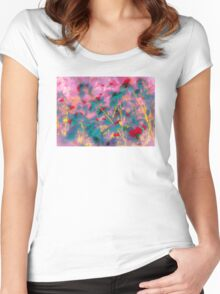 Floral Fantasy Women's Fitted Scoop T-Shirt