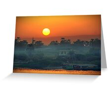 Sunset On The Nile Greeting Card