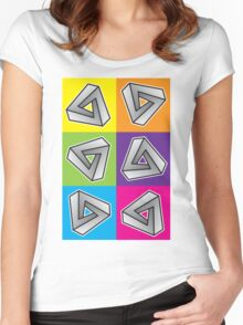 Mobius Triangles (Angular Repeat) Women's Fitted Scoop T-Shirt