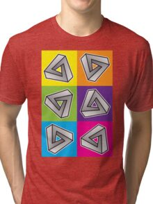 Mobius Triangles (Angular Repeat) Tri-blend T-Shirt