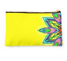 Watercolor Simetric Mandala Flower - zentangle Studio Pouch