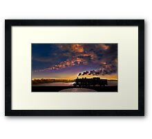 Silhouettes of the Past Framed Print