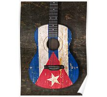 Aged and Worn Cuban Acoustic Guitar Poster