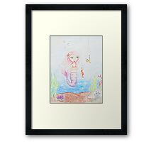 Marina the Mermaid Framed Print