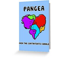 Pangea- the happy continent  Greeting Card