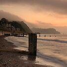 Pastel sunrise - Teignmouth beach, Devon by rosiephoto