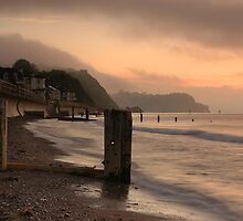 Pastel sunrise - Teignmouth beach, Devon by rosiephoto