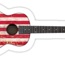 Aged and Worn American Acoustic Guitar Sticker