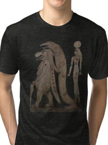 The Hippo, the Croc & Isis Tri-blend T-Shirt