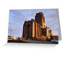 Anglican Cathedral, Liverpool. Greeting Card