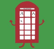 Cartoon Telephone Box One Piece - Short Sleeve
