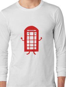 Cartoon Telephone Box Long Sleeve T-Shirt