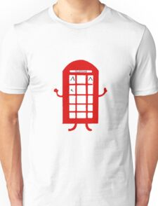 Cartoon Telephone Box Unisex T-Shirt