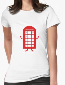 Cartoon Telephone Box Womens Fitted T-Shirt