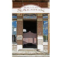 Devils Plate Saloon entry Photographic Print