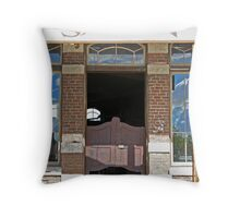Devils Plate Saloon entry Throw Pillow