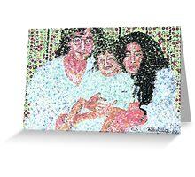John and Yoko and Baby Greeting Card