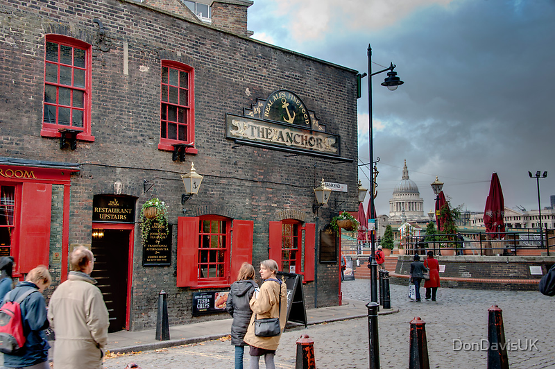 The Anchor Pub: The Southbank, London, UK. by DonDavisUK