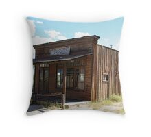 western town building Throw Pillow