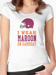 I Wear Maroon on Gameday Women's Fitted Scoop T-Shirt
