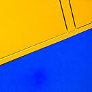 Abstract in blue and yellow by Thad Zajdowicz
