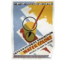 WPA United States Government Work Project Administration Poster 0364 The Art Institute of Chicago International Exhibition Water Colors Poster