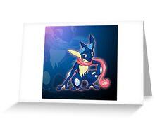 Blue Ninja Greeting Card