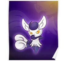 Violet Feline Poster