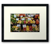 Vegetables in basket Framed Print