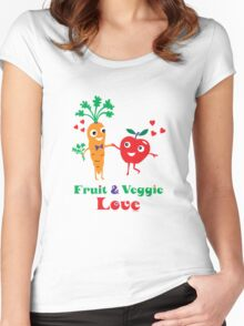 Fruit and Veggie Love Women's Fitted Scoop T-Shirt